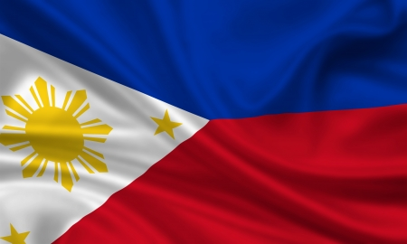 waving flag of the philippines photo