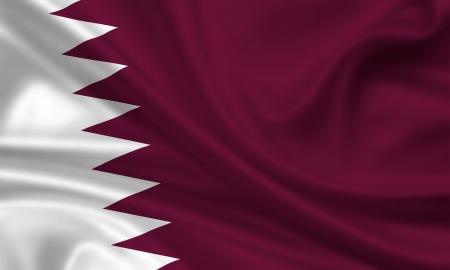 waving flag of qatar