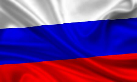 russian flag: waving flag of russia Stock Photo