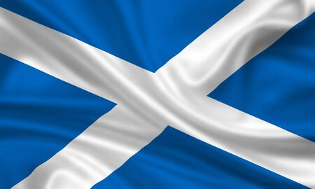 waving flag of scotland photo