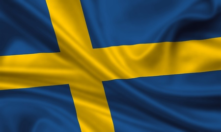 waving flag of sweden photo