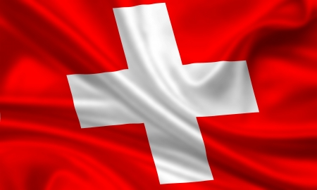 waving flag of switzerland photo