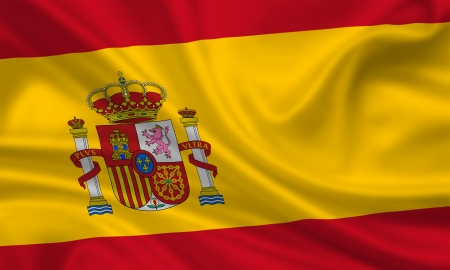 waving flag of spain photo