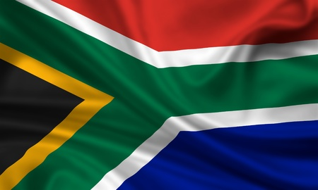 waving flag of south africa photo