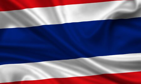waving flag of thailand photo