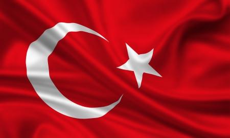 pavo: bandera que agita de pavo Foto de archivo