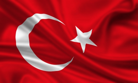 waving flag of turkey photo