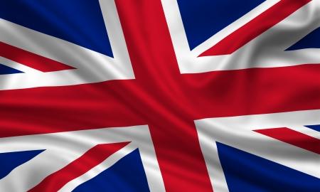 waving flag of great britain