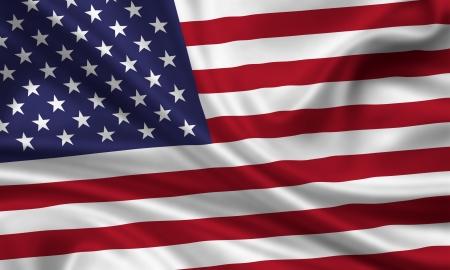 bandera estados unidos: ondeando la bandera de los estados unidos de america