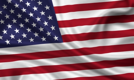 waft: waving flag of the united states of america