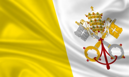 waving flag of the vatican state