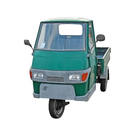 wheeler: Three wheeler isolated on white background