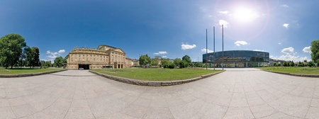 Panorama of the parliament Landtag in Stuttgart, Germany