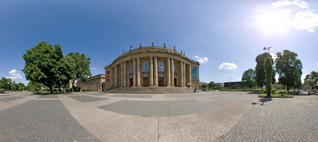 STUTTGART, GERMANY - May 19: Panorama of the Opera building on May 19, 2009 in Stuttgart, Germany.
