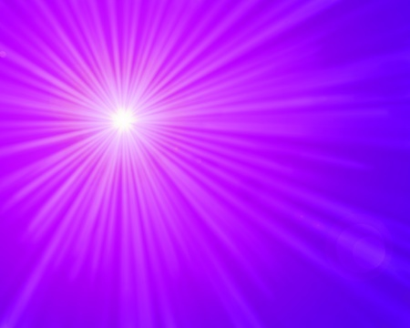 Light rays on a bright and purple, pink gradient background  photo