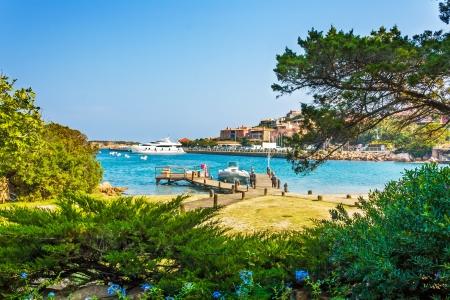 Harbor in Porto Cervo, Sardinia, Italy Stock Photo