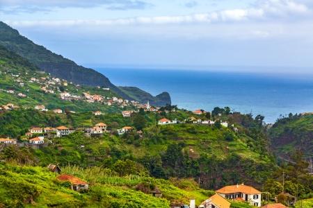 Madeiran landscape near Faial and Porto da Cruz