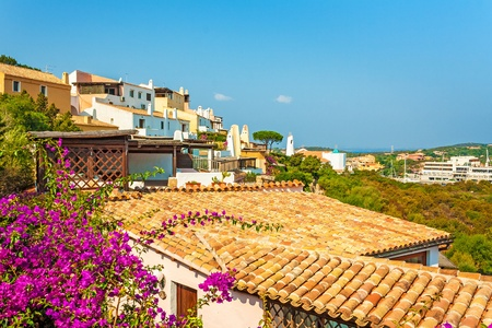 view over roofs of a mediterranean village