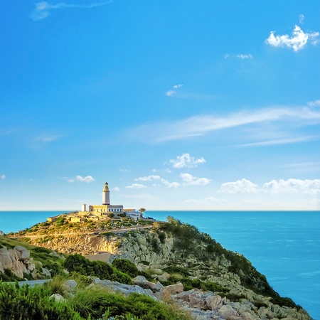 Lighthouse at the Cap de Formentor, Majorca photo