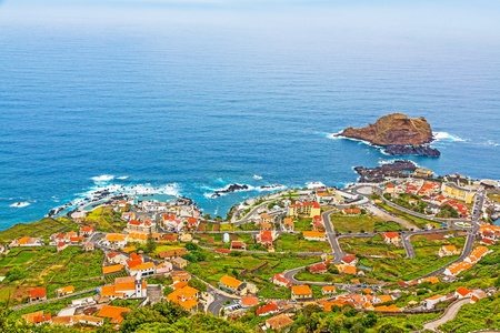 View of the village of Porto Moniz, Madeira Island, Portugal Stock Photo - 20594857