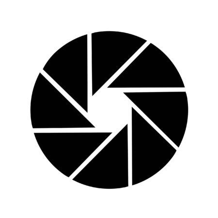 Shutter design for photo studio isolated on white background photo