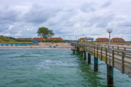Pier in Rerik, baltic sea, view of the beach Stock Photo