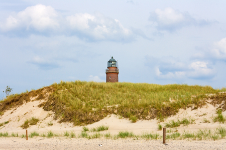 Lighthouse at Darsser Ort  Weststrand of the peninsula Fischland-Darss-Zingst, Mecklenburg-Western Pomerania, Germany photo