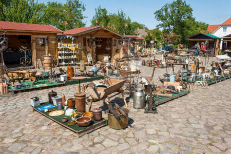 kap: Putgarten, Germany - June 22, 2012: Ruegenhof  flea market, a famous marketplace and tourist attraction at Kap Arkona, Island of Ruegen