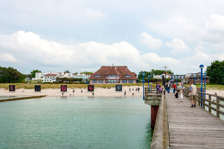 Beach promenade in Zingst, Germany, view from the pier