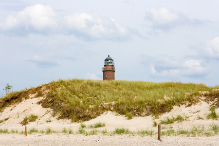 Lighthouse at Darsser Ort near Prerow, Fischland-Darss-Zingst, view from the beach photo