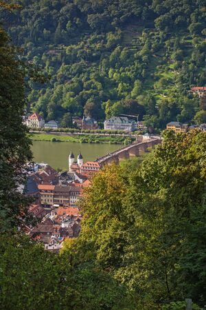 heidelberg: View over Heidelberg and river Neckar