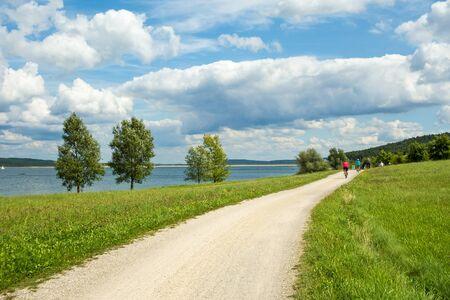 bikeway: Bikeway walk near Brombachsee, Ramsberg, Germany, Bavaria