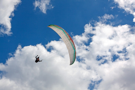 paraglider: Paraglider at the sky Stock Photo