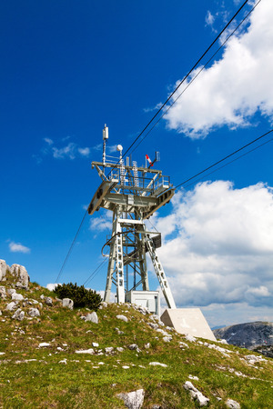 ropeway: Ropeway tower at the Dachstein
