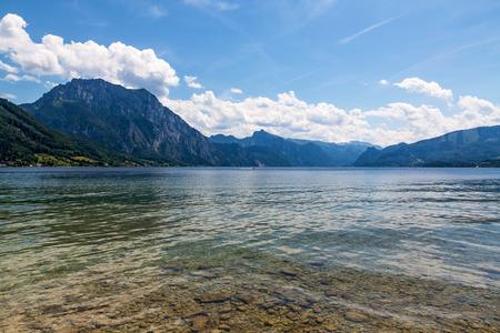 upper: Lake Traunsee, Gmunden, Upper Austria