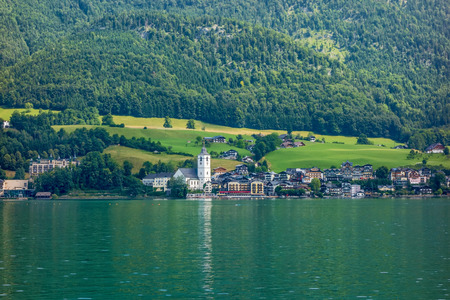 wolfgang: The tourist town St. Wolfgang at the lake Wolfgangsee in Austria, Europe