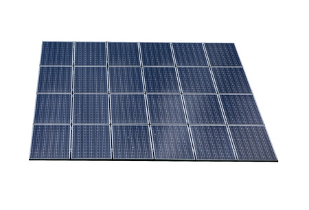solar collector: Solar panel isolated on white background