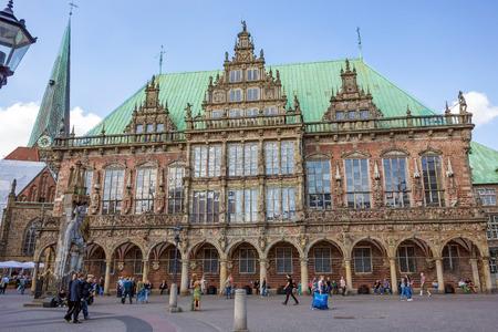 unesco world cultural heritage: Bremen, Germany - June 6, 2014: Historic town hall of Bremen, Germany