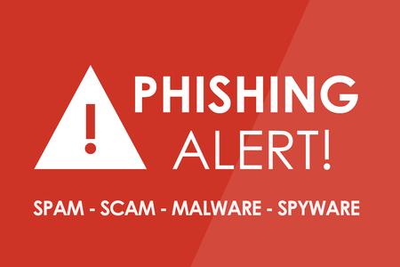 PHISHING Alert-Konzept - weiße Buchstaben und Dreieck mit Ausrufezeichen Standard-Bild - 45515340