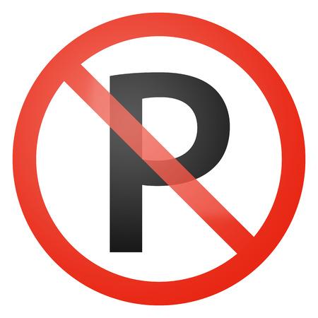 danger do not cross: Parking not allowed sign - white background