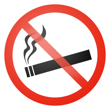 danger do not cross: Smoking not allowed sign - white background