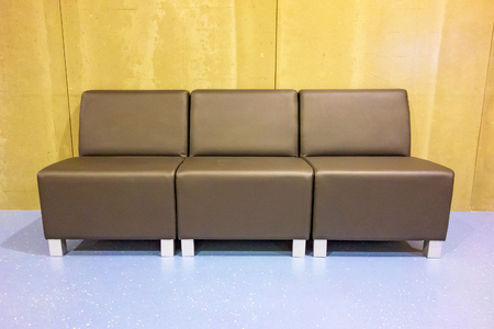 brown leather sofa: Brown leather sofa - modern style