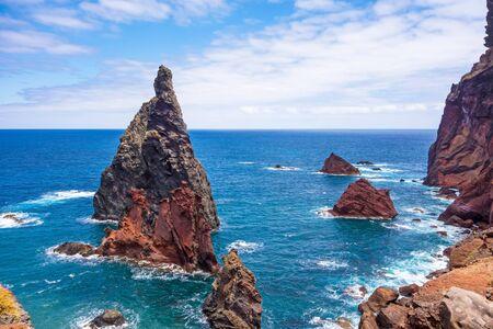 mountainous: Mountainous landscape - peninsula Ponta de Sao Lourenco - east of Madeira