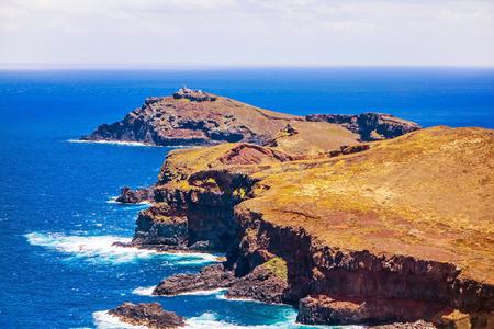 rambling: Island Ilheu da Cevada  do Farol - the most easterly point on Madeira - view from Ponta do Furado
