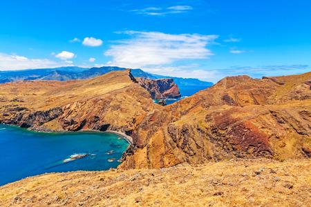 mountainous: Madeira - mountainous natural landscape - peninsula Ponta de Sao Lourenco - east of the island