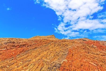 mountainous: Colorful mountainous landscape of Madeira Island - peninsula Ponta de Sao Lourenco
