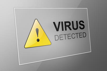 detection: Virus detected - computer virus detection - spyware concept