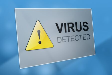 spyware: Virus detected - computer virus detection - spyware concept