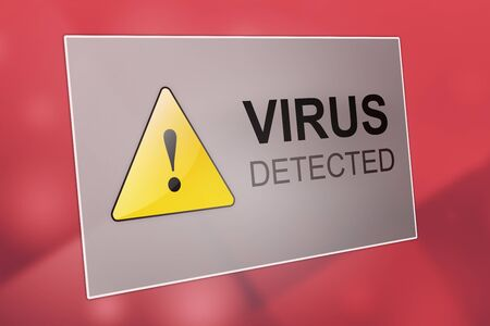computer virus protection: Virus detected - computer virus detection - spyware concept