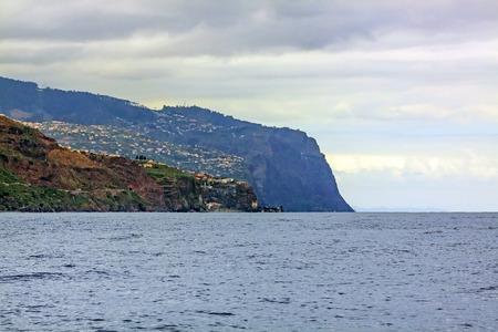 madalena: Offshore view near Calheta  Madalena do Mar, Madeira - view towards Ponta do Sol Stock Photo